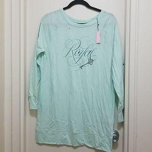 "Victoria's Secret ""Royal"" long sleeve tee shirt"